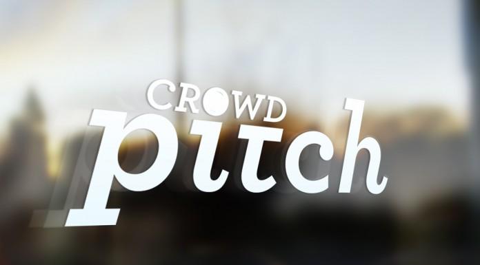 crowdpitch.me logo signage mockup