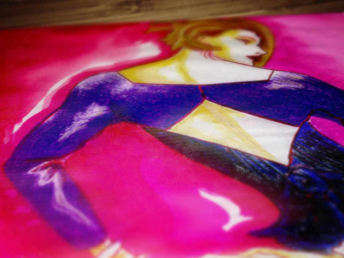 purpleback dress fashion illustration